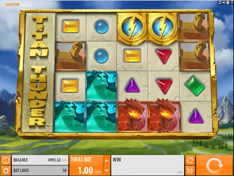 Kostenlose Spielautomat Titan Thunder Online